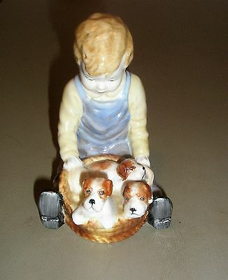 Paragon Bone China Figurine Boy With Pups Titled Pals