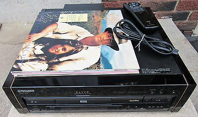 Pioneer Elite DVL-90 Laser Disc/DVD/CD Player W/ Remote & 4 Discs Rosewood Sides