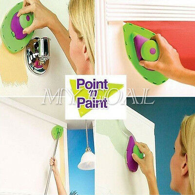 Wall Point n Paint Pads Painting Roller Tray Multifunction Tool 4Sponge DIY Set