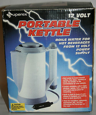 NEW - Superex 12 Volt Plug In Portable Kettle