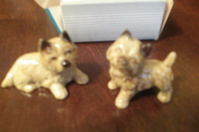 Two Carin Puppies In Original Box--Whimsies by Wade & 3 Wade Red Rose Tea Dogs