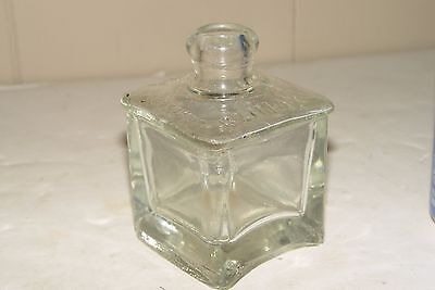 Estate Collection  Antique Blown Glass Climax  Ink Bottle Inkwell # 10