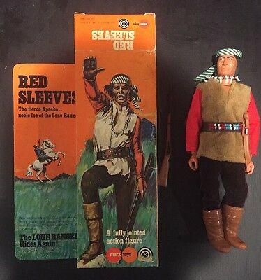 "The Lone Ranger ""Red Sleeves"" Vintage Action Figure- Marx 1975"