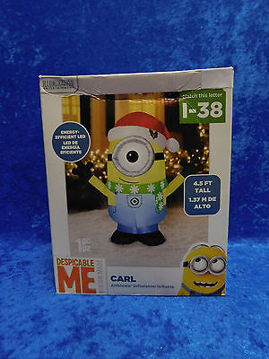 Airblown Inflatable Despicable Me Minions Carl LIGHTS UP Christmas