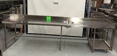 3470 Stainless Steel Bench with hand basin