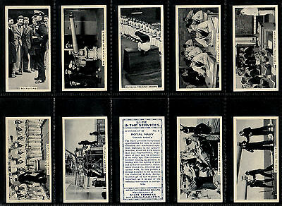 """Ardath 1938 Overseas ( Naval ) Full 50 Card Set """""""" Life In The Services """""""""""