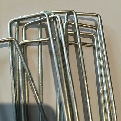 100 x 2.8mm Anchor Pins Pegs for Weed Mat Tent Pegs Tarpaulin Pins 150mm x 150mm