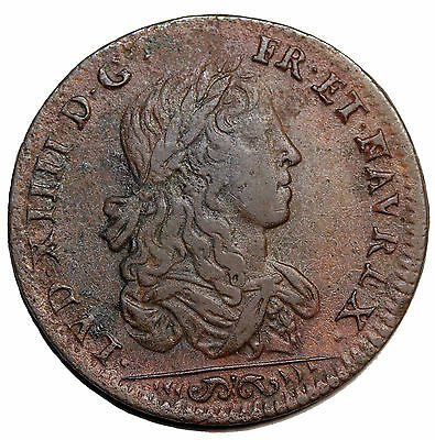 France Undated Louis XIV French Copper Jeton Token