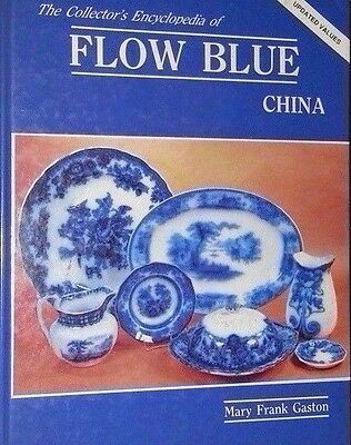 Vintage Flow Blue China Price Guide Collector's Book Plate Bowl Pitcher Pot Cup
