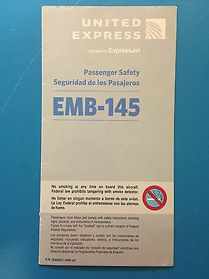United Express Airlines Safety Card--Emb145