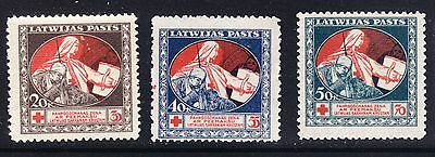 Latvia 1920 Red Cross Complete set - MH