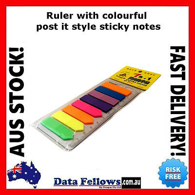 Cute Post-It Page Marker with Ruler Sticky Note for folders Filofax Stationery