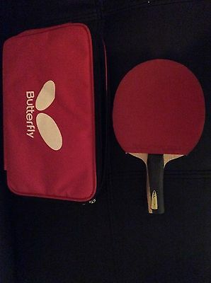 Butterfly Boll Allround Fl Flextra Rubbers Black/Red Table Tennis Bat