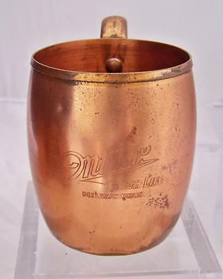 Vtg Solid Copper West Bend WB Signed Miller High Life Moscow Mule Cup Mug