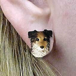 Conversation Concepts Australian Shepherd Blue Post Earrings
