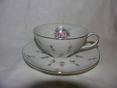 Rosebud Cup and Saucer by Harmony House From Japan