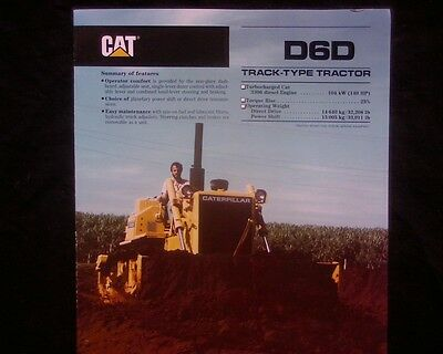 Caterpillar D6D Bulldozer sales brochure