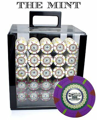 Claysmith Gaming 1000-Count 'The Mint' Poker Chip Set in Acrylic Case 13.5gm