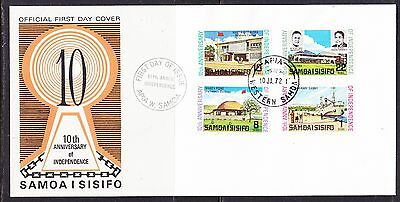 Samoa 1972 - 10th Anniv Independence  First Day Cover - Unaddressed