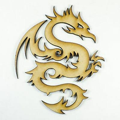 MDF Wooden Dragon Shape Laser Cut 3mm Wood Cutout Shapes Craft Design Decoration