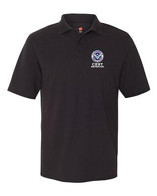 CERT Instructor Embroidered Polo Shirt M-5X for Security Police Sheriff Rescue