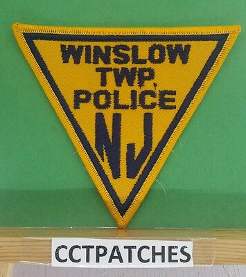 Winslow Township, New Jersey Police Triangle Shoulder Patch Nj