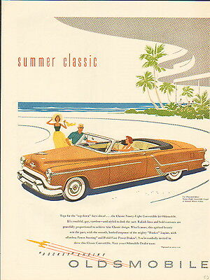 1953 Oldsmobile car ad 98 Convertible Coupe -/868