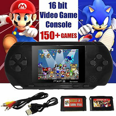 PVP 2018 Handheld Video Game Console PXP3 Built-in 150 Free Retro Games