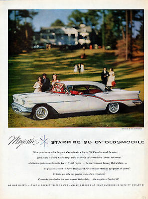 1957 Oldsmobile Car Ad -Starfire 98 Sedan  ---v710