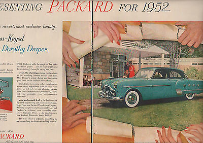 1952 Packard Patrician car ad 400 2 page ad--253