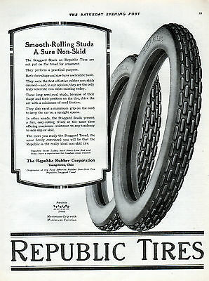 1918 Republic Tires ad --Staggard treads --0-265