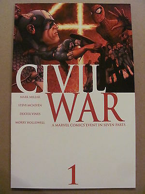 Civil War #1 #2 #3 #4 #5 #6 #7 Full Set Marvel Comics 2006 Millar 9.6 Near Mint+