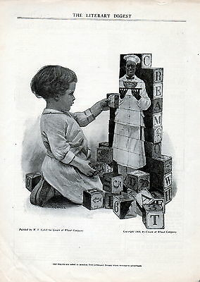 1910 Cream of Wheat cereal  ad by W.V.Cahill--/125