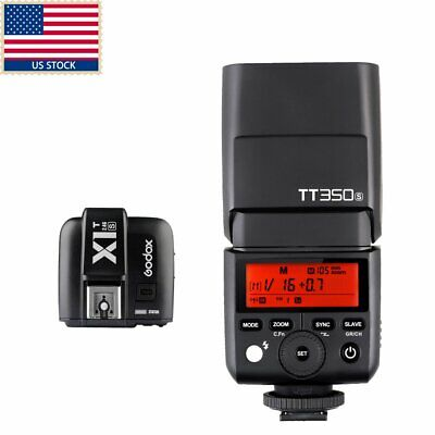 US Godox Mini TT350S 2.4G TTL GN36 Camera flash Kit for Sony a77II a7R A99 A6000