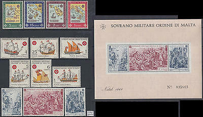 XG-Q093 SMOM/VATICAN CITY - Year Set, 1968 Ships, Maps, Complete As Per Scan MNH