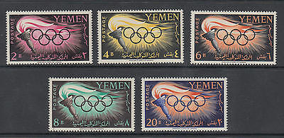 XG-B930 YEMEN - Olympic Games, 1960 Italy Rome '60, Torch MNH Set