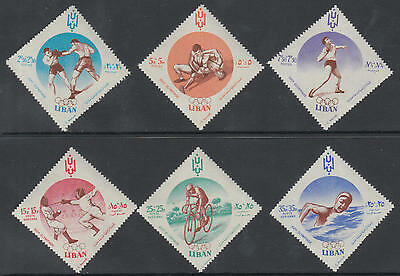 XG-B946 LEBANON IND - Olympic Games, 1960 Italy Rome '60, Cycling MNH Set
