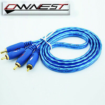 2 RCA Male Twin Phono to Phono Lead Audio Cable 1.5m 3m 5m OFC