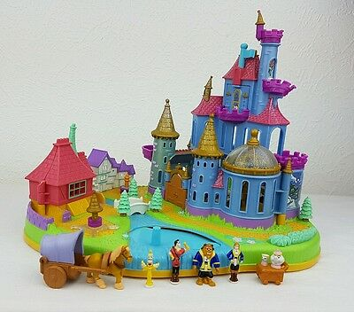 Vintage Polly Pocket Beauty and the Beast Magical Castle 99%Complete Disney 1997