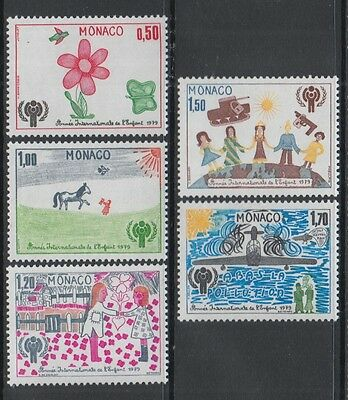 XG-Q405 MONACO - Intl. Year Of The Child, 1979 Children Paintings MNH Set