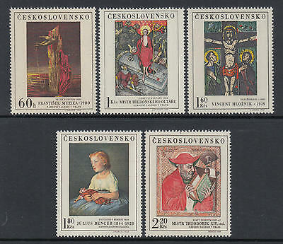 XG-Q446 PAINTINGS - Czechoslovakia, 1969 5 Values MNH Set