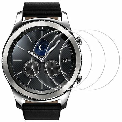Screen Protector for Samsung Gear S3, Frontier and Classic, AFUNTA 3 Pack Glass