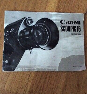 Canon Scopic instruction booklet