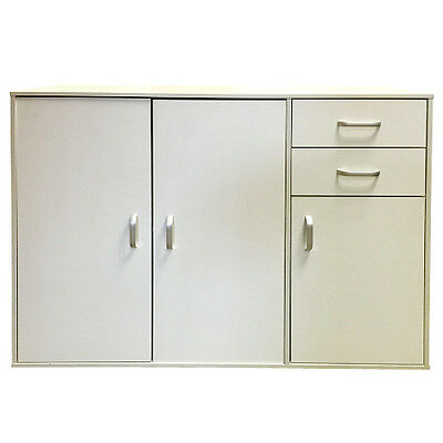 White Sideboard Cabinet Chest Of Drawers Storage Wood Cupboard Office Furniture