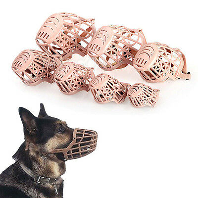 Dog Safety Muzzle Muzzel Adjustable Biting Barking Chewing Puppy Basket Cage Pet