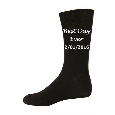 Best Day Ever Personalised wedding socks Wedding Gift