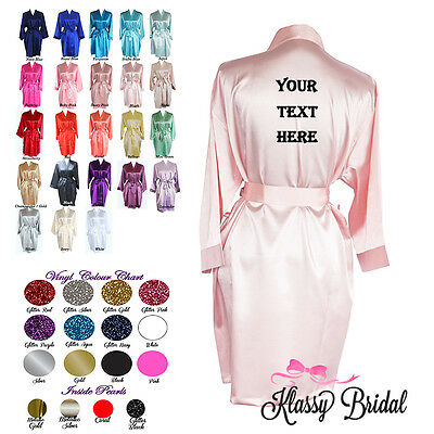 Custom text Robes Your Design NAME PERSONALISED Bridal bridesmaid wedding robes