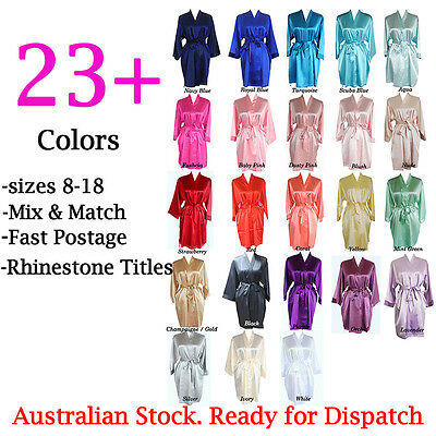 Satin Robe Dressing Gown Wedding Bride Bridesmaid Robes Personalized Bridal Gift