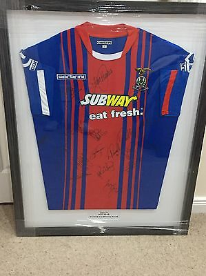 Signed Inverness Football Shirt In Frame