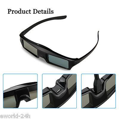 Universal Bluetooth 3D Active Shutter Glasses For Sony/Panasonic/Toshiba 3DTV UK